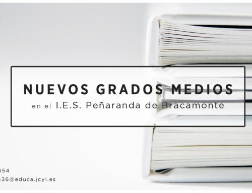 Nuevos Ciclos de Formación Profesional en los institutos peñarandinos