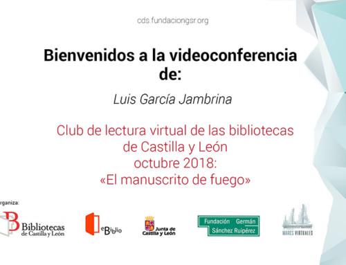 Videoconferencia con Luis García Jambrina. Club de Lectura JCyL